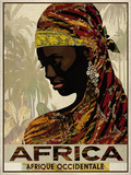 Vintage Travel Africa Giclée-tryk af  The Portmanteau Collection
