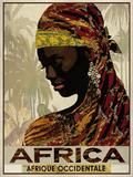 Vintage Travel Africa Giclée-tryk