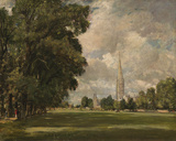 Salisbury Cathedral from Lower Marsh Close, 1820 Giclee Print by John Constable