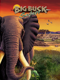 Big Buck Safari Elephant Cabinet Art  with Logo Poster di John Youssi