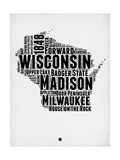 Wisconsin Word Cloud 2 Prints by  NaxArt