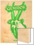 Gemsbok Spray Paint Green Wood Print by Anthony Salinas