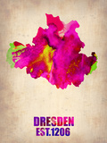 Dresden Watercolor Poster Plastic Sign by  NaxArt