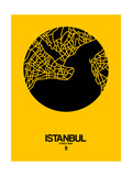 Istanbul Street Map Yellow Posters by  NaxArt
