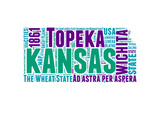 Kansas Word Cloud Map Prints by  NaxArt