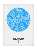 Warsaw Street Map Blue Print by  NaxArt