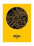 Seoul Street Map Yellow Print by  NaxArt