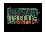 Pennsylvania Word Cloud 1 Posters by  NaxArt