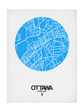 Ottawa Street Map Blue Prints by  NaxArt