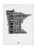 Minnesota Word Cloud 2 Prints by  NaxArt