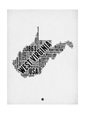 West Virginia Word Cloud 2 Posters by  NaxArt