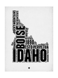 Idaho Word Cloud 2 Prints by  NaxArt