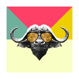 Party Buffalo in Glasses Posters by Lisa Kroll