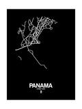 Panama Street Map Black Prints by  NaxArt