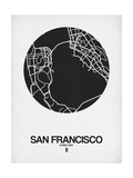 San Francisco Street Map Black on White Prints by  NaxArt