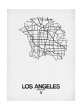 Los Angeles Street Map White Prints by  NaxArt