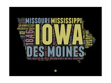 Iowa Word Cloud 1 Posters by  NaxArt
