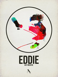 Eddie Watercolor Plastic Sign by David Brodsky