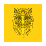 Tiger Head Yellow Mesh Print by  NaxArt