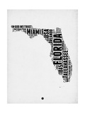 Florida Word Cloud 2 Print by  NaxArt