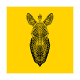 Yellow Zebra Mesh Posters by Lisa Kroll