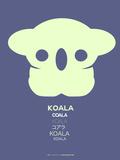 Yellow Koala  Multilingual Poster Plastic Sign by  NaxArt