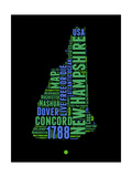 New Hampshire Word Cloud 1 Prints by  NaxArt