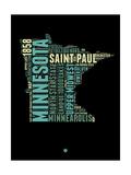 Minnesota Word Cloud 1 Prints by  NaxArt