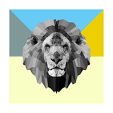 Party Lion Poster by Lisa Kroll