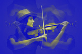 Violinist Plastic Sign by  NaxArt