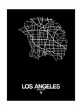 Los Angeles Street Map Black Posters by  NaxArt