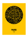 Paris Street Map Yellow Prints by  NaxArt