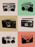 Boom Box Poster Plastic Sign by  NaxArt