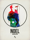 Noel Watercolor Plastic Sign by David Brodsky