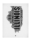 Illinois Word Cloud 2 Art by  NaxArt