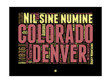 Denver Word Cloud 1 Posters by  NaxArt