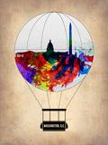 Washington, D.C. Air Balloon Plastic Sign by  NaxArt