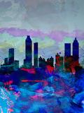 Atlanta Watercolor Skyline Plastic Sign by  NaxArt