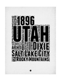 Utah Word Cloud 2 Prints by  NaxArt