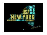 New York Word Cloud 1 Prints by  NaxArt
