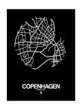 NaxArt - Copenhagen Street Map Black - Reprodüksiyon