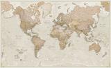 World Antique Megamap 1:20, Laminated Wall Map Plakát