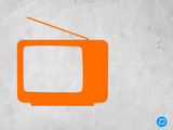 Orange Tv Vintage Plastic Sign by  NaxArt