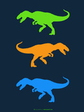 Dinosaur Family 22 Plastic Sign by  NaxArt