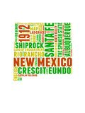New Mexico Word Cloud Map Posters by  NaxArt