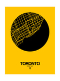 Toronto Street Map Yellow Posters by  NaxArt