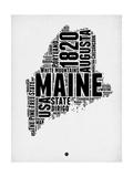 Maine Word Cloud 2 Art by  NaxArt