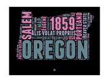 Oregon Word Cloud 2 Posters by  NaxArt