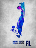 Miami Beach Florida Plastic Sign by  NaxArt
