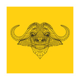 Yellow Buffalo Mesh Prints by  NaxArt